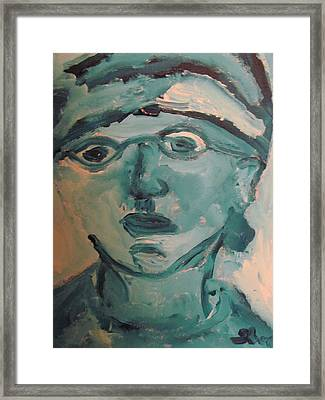 Portrait Of A Man Framed Print by Shea Holliman