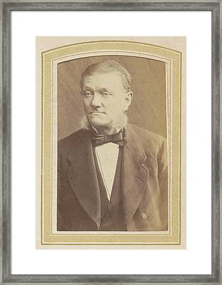 Portrait Of A Man With Sideburns, A Bow Tie And A Jacket Framed Print by Artokoloro