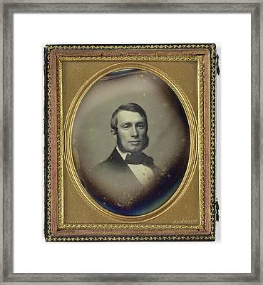 Portrait Of A Man With Sideburns, John Adams Whipple Framed Print by Artokoloro