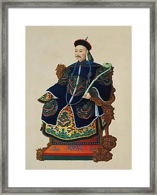 Portrait Of A Mandarin Framed Print