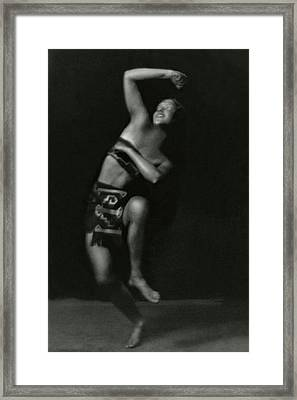 Portrait Of A Marion Morgan Dancer Framed Print by Arnold Genthe