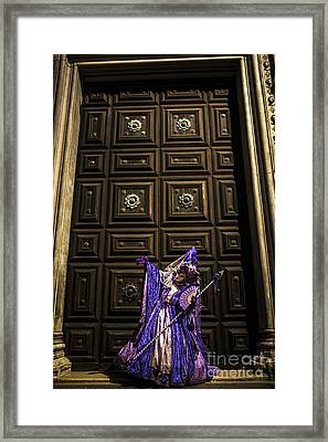 Portrait Of A Mask Iv Framed Print by Yuri Santin