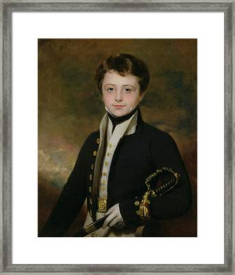 Portrait Of A Midshipman Framed Print by Sir Martin Archer Shee