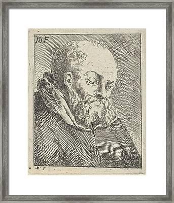 Portrait Of A Monk, Jan Lauwryn Krafft Framed Print by Artokoloro
