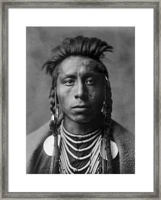 Portrait Of A Native American Man Framed Print