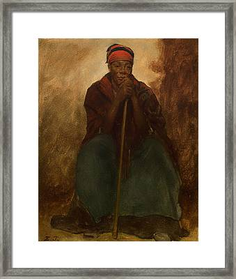 Portrait Of A Negress Framed Print by Mountain Dreams