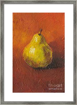 Portrait Of A Pear Framed Print