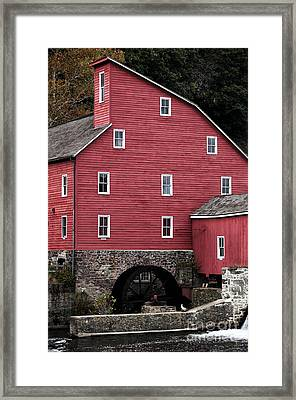 Portrait Of A Red Mill Framed Print by John Rizzuto