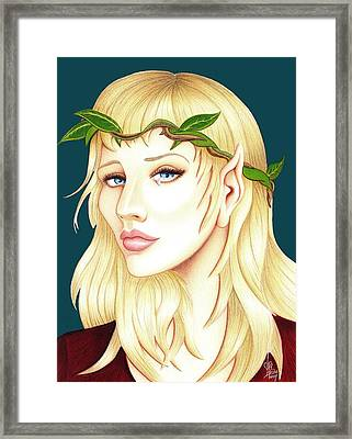 Portrait Of A She Elf Framed Print