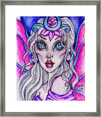 Portrait Of A Sidhe Queen- Altheia Framed Print by Coriander  Shea