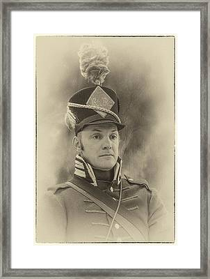 Portrait Of A Soldier Framed Print by Jill Balsam