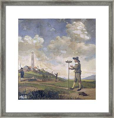 Portrait Of A Surveyor, Andries Van Der Wal Framed Print by Litz Collection
