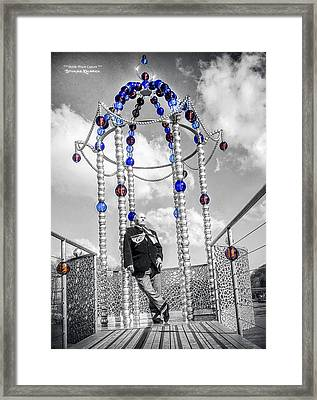 Framed Print featuring the photograph Portrait Of A Troubled Grandpa by Stwayne Keubrick