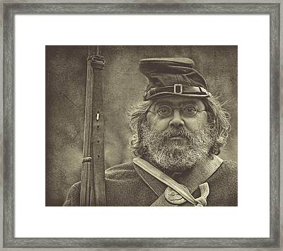 Portrait Of A Union Soldier Framed Print by Pat Abbott