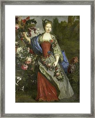 Portrait Of A Woman, According To Tradition Marie Louise Framed Print by Litz Collection