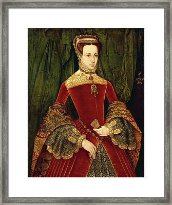 Portrait Of A Woman, Aged Sixteen, Previously Identified Framed Print by Litz Collection