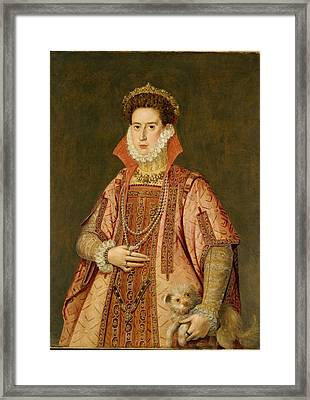 Portrait Of A Woman Framed Print by Alonzo S�nchez Coello
