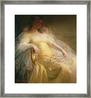 Portrait Of A Woman Framed Print by Arpad Migl