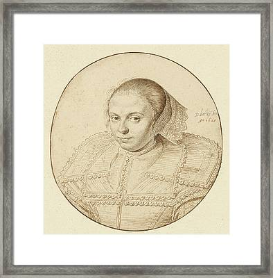 Portrait Of A Woman David Bailly, Dutch Framed Print by Litz Collection