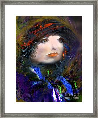 Portrait Of A Woman From A Long Time Ago Framed Print by Doris Wood