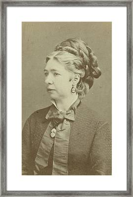 Portrait Of A Woman, Gelderman, Godfried De Jong Framed Print by Artokoloro