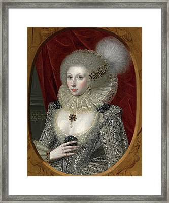 Portrait Of A Woman, Possibly Frances Cotton, Lady Montagu Framed Print by Litz Collection