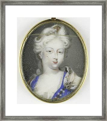 Portrait Of A Woman, Presumably Christiane Charlotte Framed Print