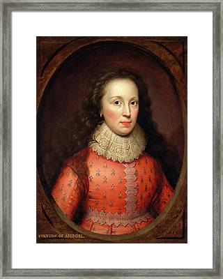 Portrait Of A Woman, Traditionally Identified Framed Print