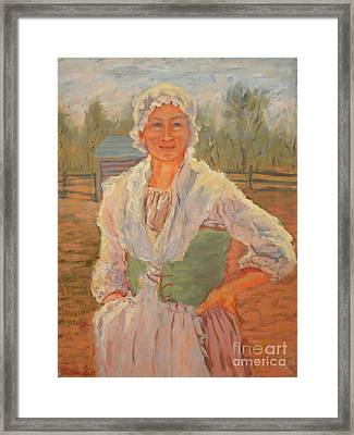 Portrait Of A Women Framed Print by Monica Caballero