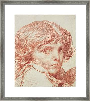 Portrait Of A Young Boy Framed Print