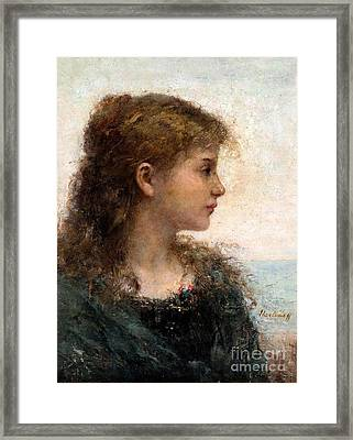 Portrait Of A Young Girl Framed Print by Celestial Images