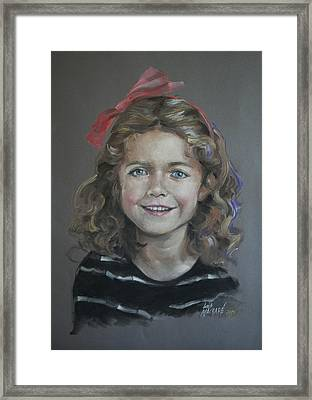 Portrait Of A Young Girl Framed Print by Mary Machare