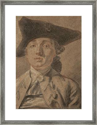 Portrait Of A Young Man Framed Print by French School