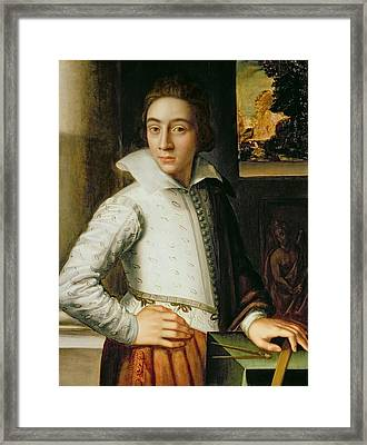 Portrait Of A Young Man, Mid-sixteenth Framed Print by Florentine School