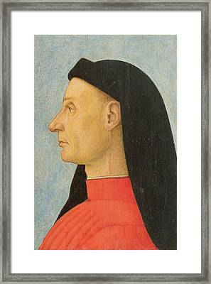 Portrait Of A Young Man  Framed Print by Giovanni Bellini