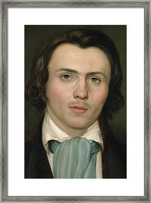 Portrait Of A Young Man Framed Print by Rudolph Friedrich Wasmann