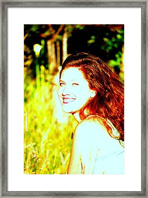 Portrait Of A Young Woman 2 Framed Print by Mamie Gunning