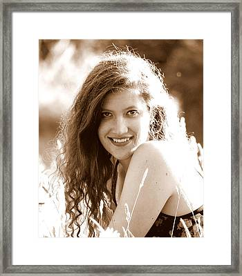 Portrait Of A Young Woman 3 Framed Print by Mamie Gunning