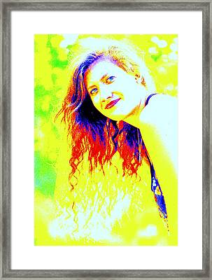 Portrait Of A Young Woman 5 Framed Print by Mamie Gunning