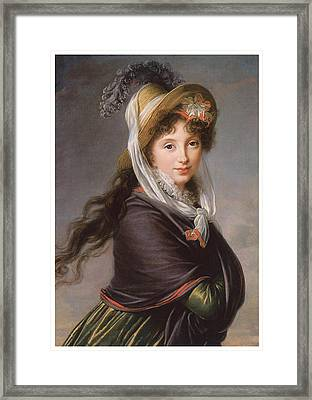 Portrait Of A Young Woman Framed Print by Marie Louise Elisabeth Vigee-Le Brun