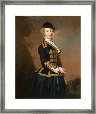 Portrait Of A Young Woman Of The Fortesque Family Of Devon Framed Print