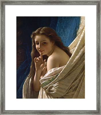 Portrait Of A Young Woman Framed Print by Pierre August Cot