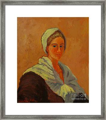 Portrait Of A Young Women Framed Print