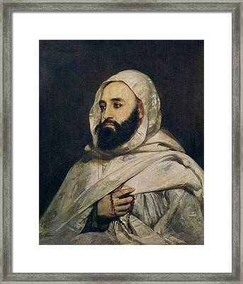 Portrait Of Abd El-kader Framed Print