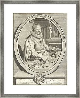 Portrait Of Abraham Gorlaeus At The Age Of 52 Framed Print