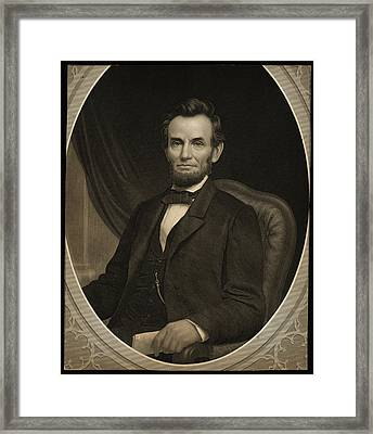 Portrait Of Abraham Lincoln Framed Print by Celestial Images