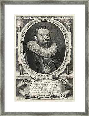 Portrait Of Abraham Van Der Meer At The Age Of 42 Framed Print