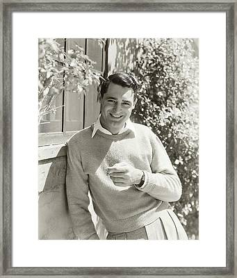 Portrait Of Actor Cary Grant Framed Print