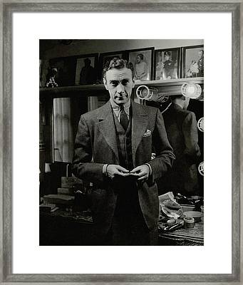 Portrait Of Actor Clifton Webb Framed Print by Lusha Nelson