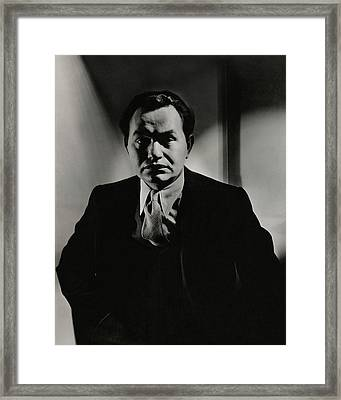 Portrait Of Actor Edward G. Robinson Framed Print